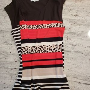 Calvin Klein top leopard